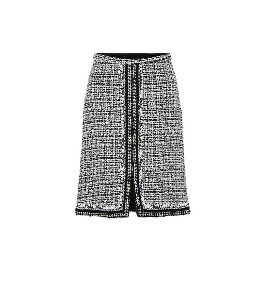 Giambattista Valli High-rise tweed miniskirt in black