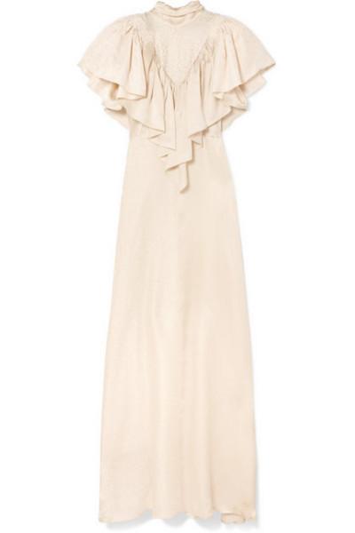 46cd6d432a ISABEL MARANT ÉTOILE Neil V-neck crepe dress in ivory - Wheretoget