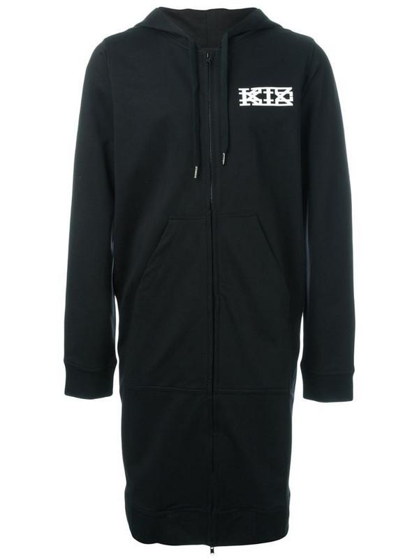 KTZ long zipped hoodie in black