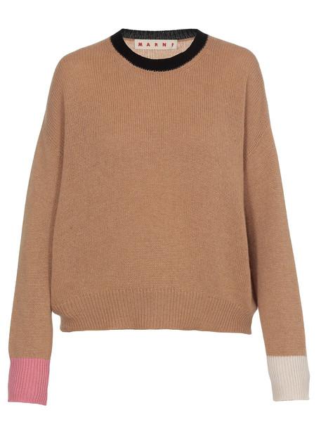 Marni Oversize Sweater in brown