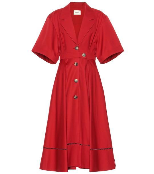 Khaite Chloé cotton midi dress in red