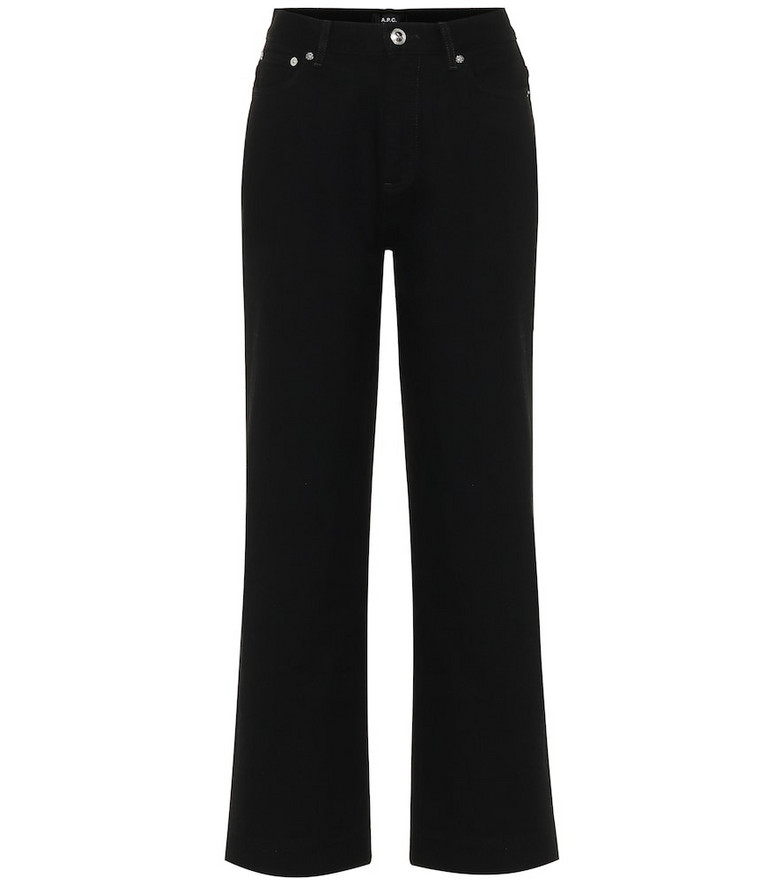 A.P.C. Sailor cropped high-rise straight jeans in black