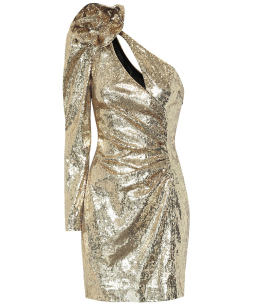 Dundas Sequined minidress in gold
