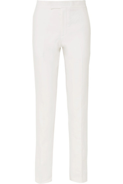Helmut Lang - Hemp And Cotton-blend Tapered Pants - White