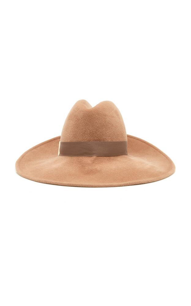 Gigi Burris Requiem Felt Wide-Brim Hat in brown
