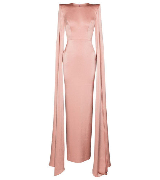 Alex Perry Exclusive to Mytheresa – Julian crêpe satin gown in pink