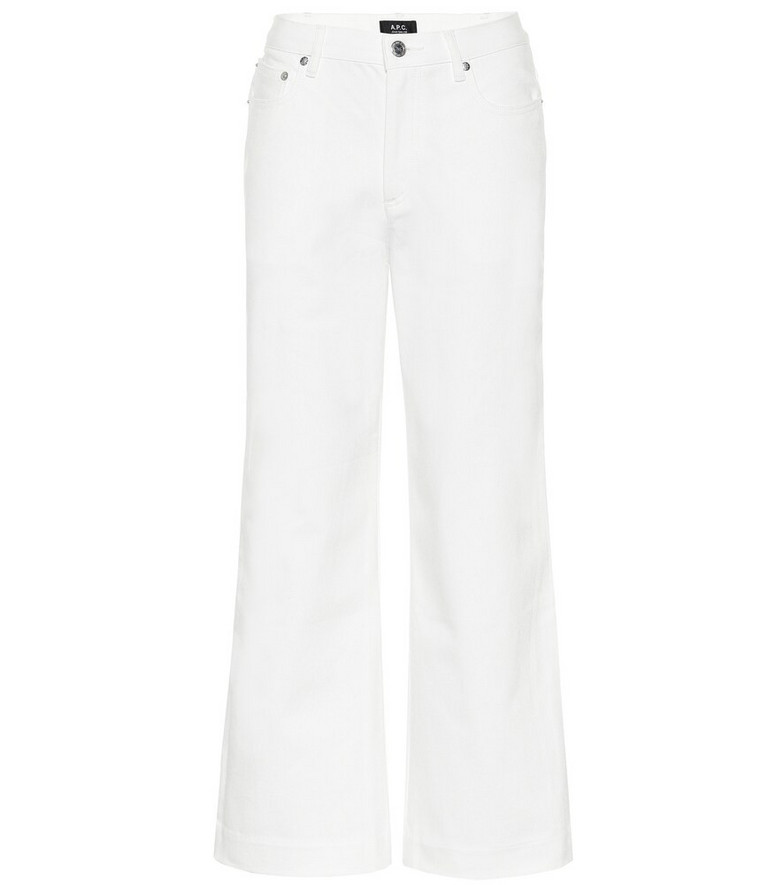 A.P.C. Sailor high-rise straight jeans in white