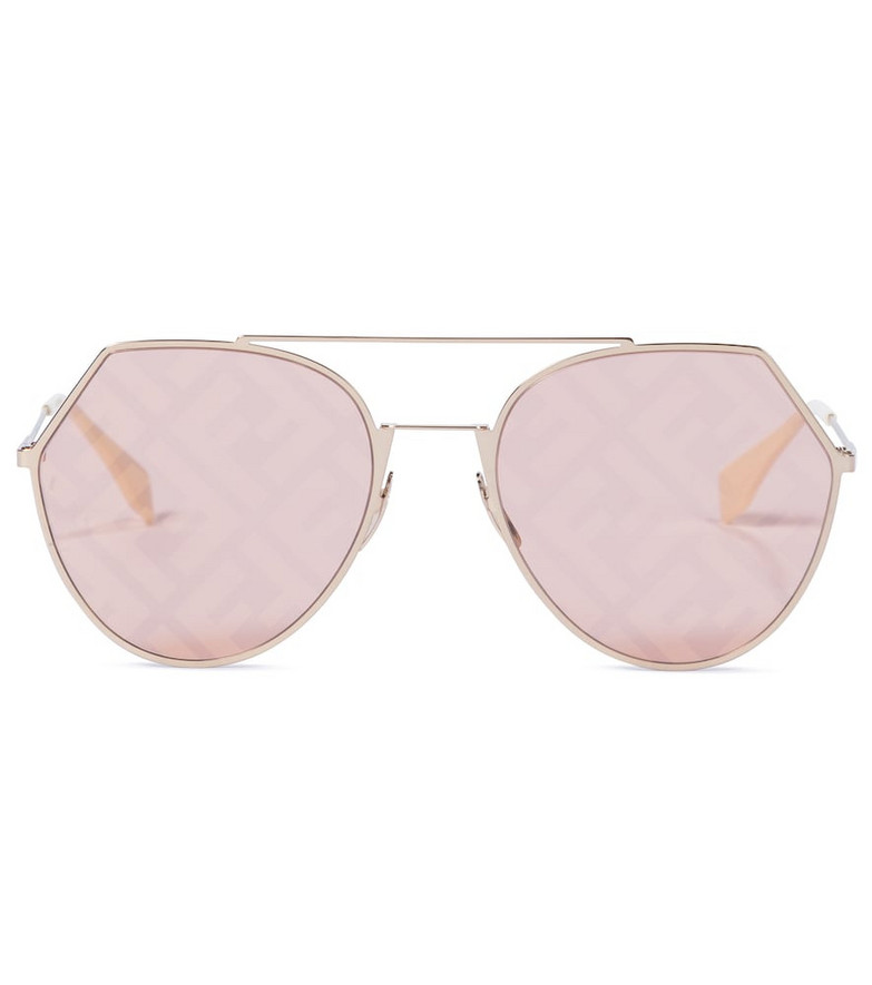 Fendi Eyeline sunglasses in gold