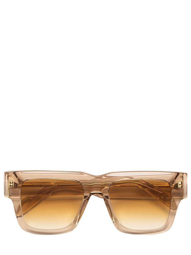 RETROSUPERFUTURE Mega Beata Acetate Sunglasses in yellow / clear