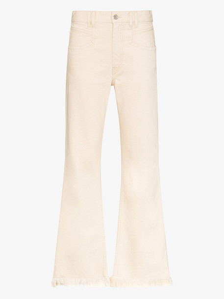 Isabel Marant Elvira frayed jeans in white