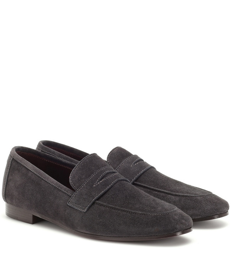 Bougeotte Flaneur suede loafers in grey