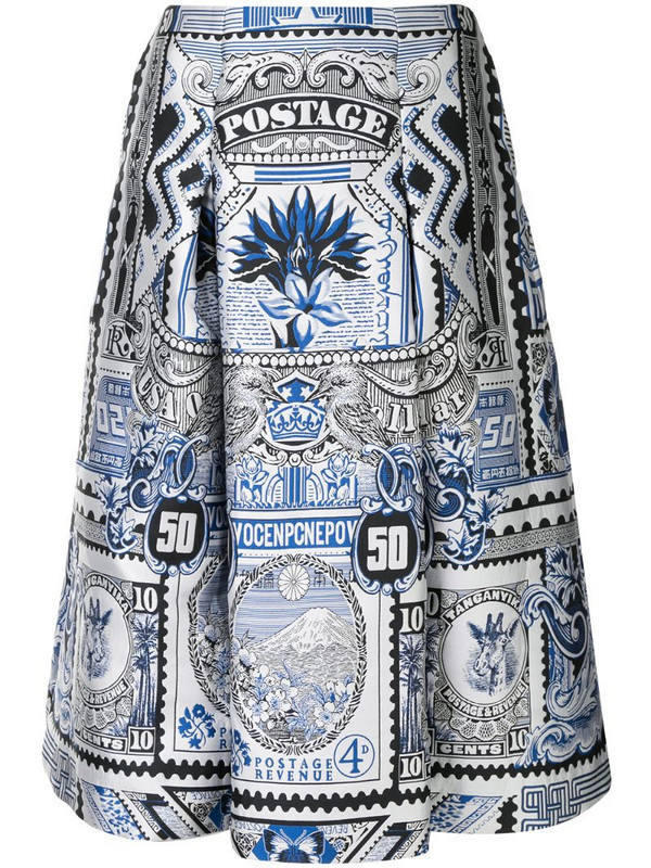 Mary Katrantzou Talona skirt in white