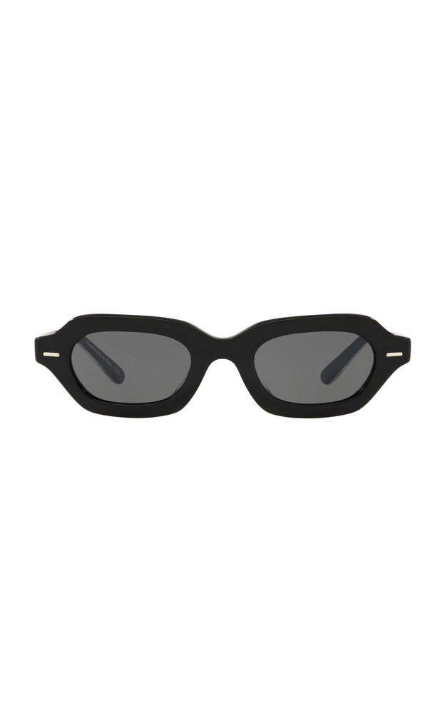 Oliver Peoples THE ROW L.A. CC Acetate Square-Frame Sunglasses in black