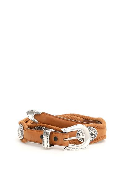 Jessie Western Oval Concho Belt in brown