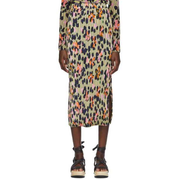 Julia Heuer Grey and Yellow Ben Print Ekke Skirt