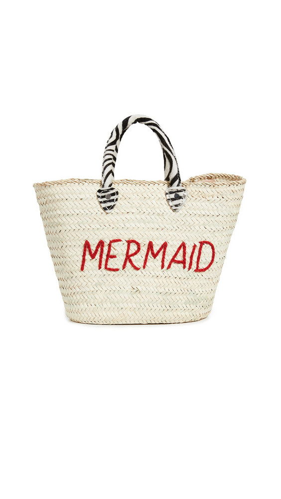 Poolside Bags Le Superette Wild Mermaid Bag in natural / red