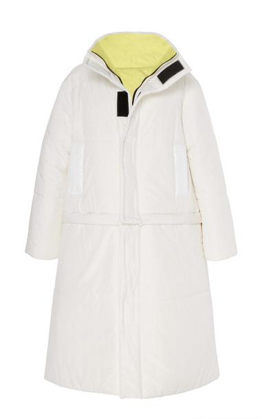 CAALO Reversible Convertible Down Coat in white