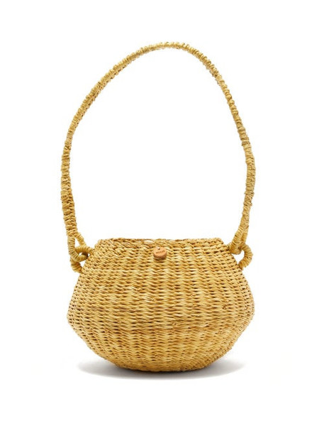 Muuñ Muuñ - Oriane Straw Basket Bag - Womens - Beige Multi