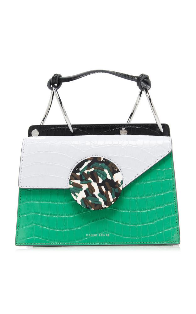 Danse Lente Phoebe Mini Embossed Leather Bag in green