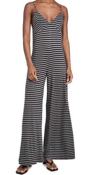 Norma Kamali Slip Jumpsuit in black / grey