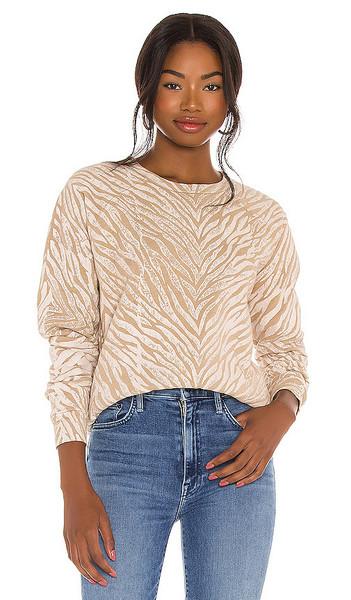MOTHER The Hugger Sweatshirt in Tan in white