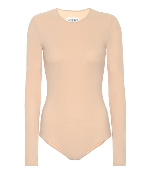 Maison Margiela Stretch bodysuit in neutrals