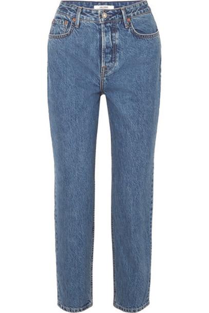 GRLFRND - Devon Organic High-rise Straight-leg Jeans - Mid denim