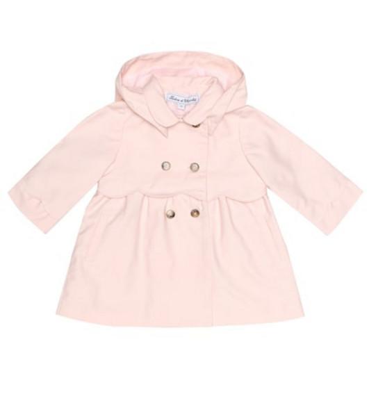 Tartine et Chocolat Cotton-blend twill coat in pink