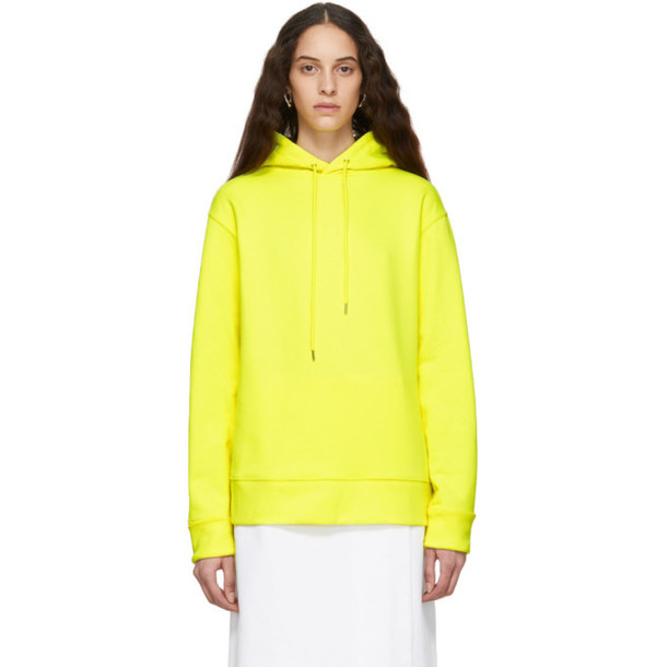 A-Plan-Application A_Plan_Application Yellow Oversized Hoodie