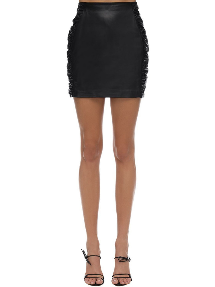 ZEYNEP ARCAY Leather Mini Skirt in black