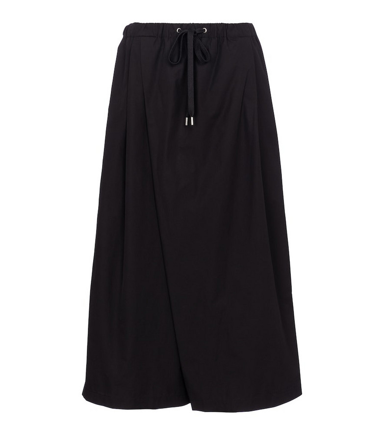 Marni Wide-leg cotton sweatpants in black