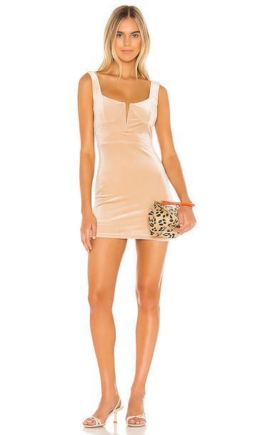 superdown Chiara Plunging Mini Dress in Cream
