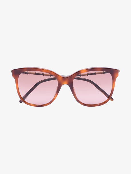 Gucci Eyewear havana brown butterfly sunglasses