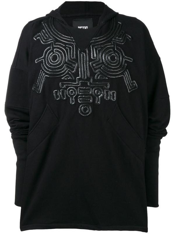 KTZ oversized corded hoodie in black
