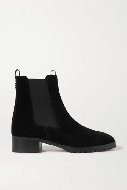 aeyde - Karlo Suede Chelsea Boots - Black