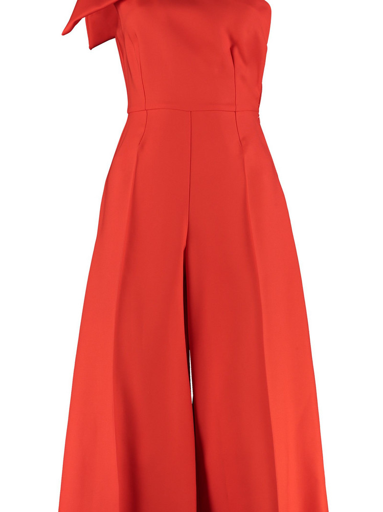 Elisabetta Franchi Celyn B. Elisabetta Franchi Celyn B. One-sleeve Jumpsuit With Bow in orange