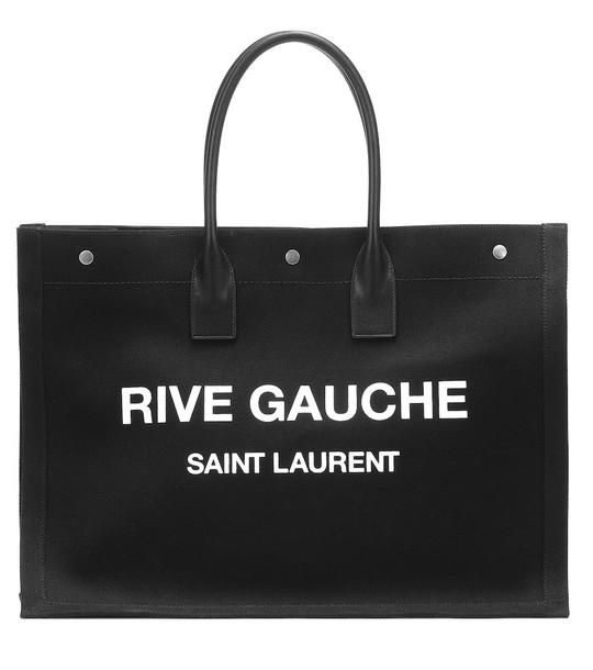 Saint Laurent Rive Gauche canvas tote in black