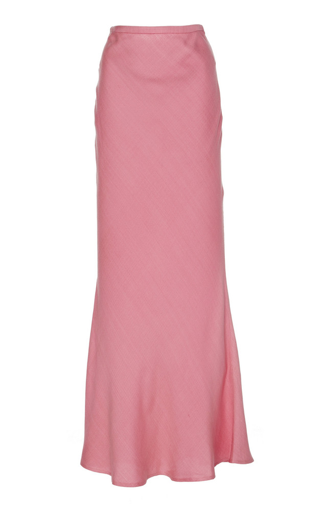 Maggie Marilyn Shine Bright Tencel Maxi Skirt Size: 6 in pink