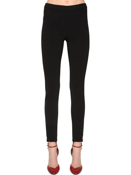 GIVENCHY Straight Tricot Knit Pants W/ Stirrups in black