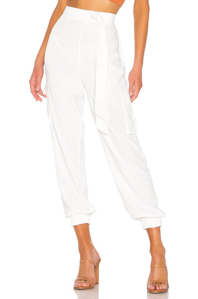 superdown Rachel Cargo Pant in white