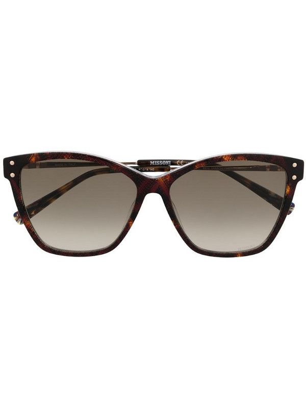 MISSONI EYEWEAR snakeskin cat-eye frame sunglasses in brown