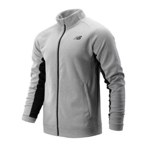 New Balance 93090 Men's Tenacity Knit Jacket - Grey (MJ93090AG)