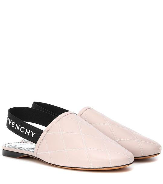 Givenchy Rivington leather slingback slippers in pink