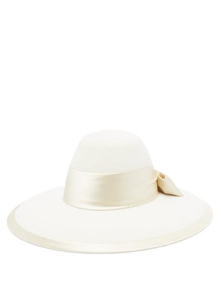 Gucci - Aurora Rabbit-felt Fedora Hat - Womens - Cream