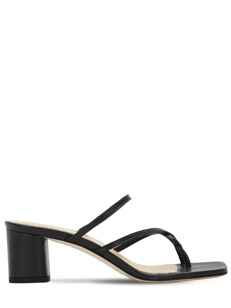 AEYDE 55mm Larissa Leather Sandals in black