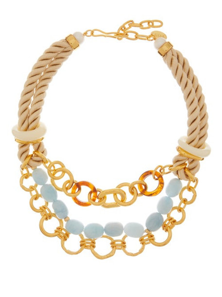 Lizzie Fortunato - Marbella Gold-plated Chain And Rope Necklace - Womens - Multi