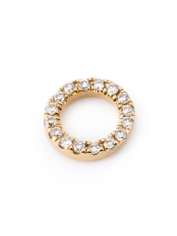 Loquet diamond pendant charm in metallic