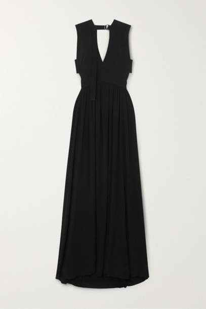 Proenza Schouler - Cutout Crepe Maxi Dress - Black