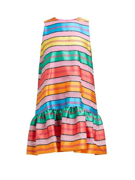 Mary Katrantzou - Ellis Jacquard Striped Organza Mini Dress - Womens - Multi
