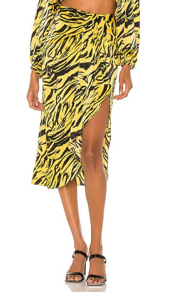 Ronny Kobo Miranda Skirt in Yellow in multi